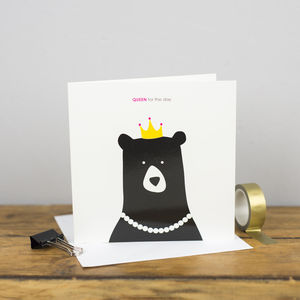 Queen For The Day Card - birthday cards