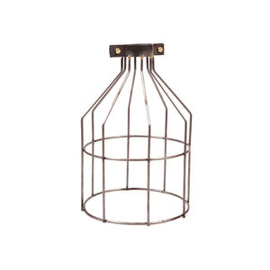 Steel Industrial Open Cage Light Shade - lighting