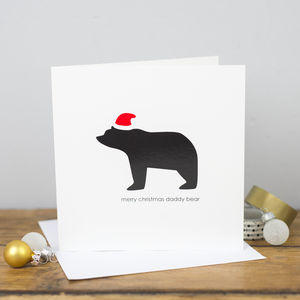 Merry Christmas Daddy Bear Card - cards