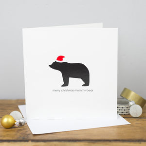 Merry Christmas Mummy Bear Card