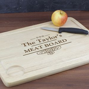 Meat Family Personalised Carving Board