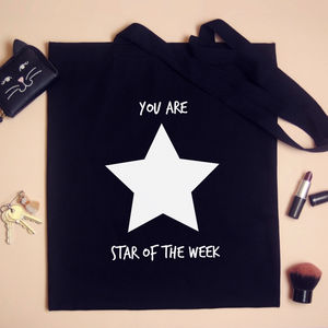 Personalised 'Star Of The Week' Teachers Tote Bag - shoulder bags