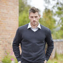 Men's Organic Cotton And Wool V Neck Jumper