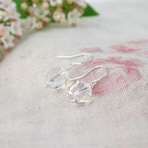 Alice Crystal And Silver Earrings - wedding jewellery