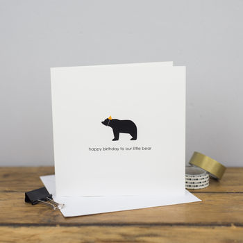 Happy Birthday Little Bear Card