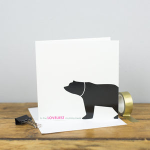 Loveliest Mummy Bear Card - birthday cards
