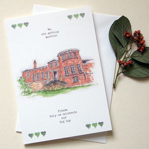 Personalised Wedding Venue Invitations Greeting Card - save the date cards