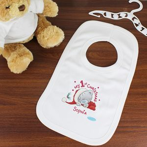 My 1st Christmas Teddy Bear Personalised Bib