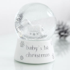 Baby's 1st Christmas Snowglobe - view all decorations
