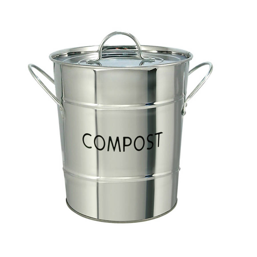 Kitchen Compost Bin / Stainless Steel By Garden Selections