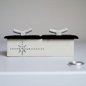 Silver Stars Ceramic Jewellery Box