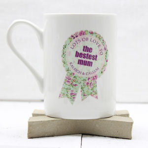 Personalised 'The Bestest' Mother's Day Mug