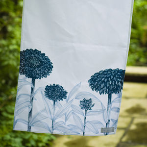 Screen Printed Floral Tea Towel