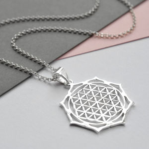 Silver Moroccan Flower Necklace - necklaces & pendants