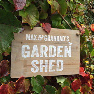Personalised Garden Shed Sign