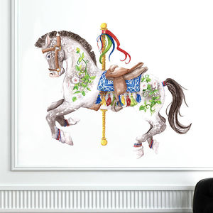 Carousel Horse Wall Sticker - wall stickers