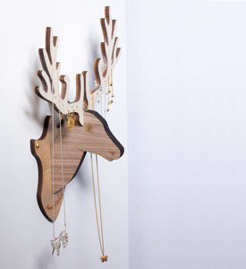 Wall Mounted Deer Jewellery Stand Storage Organiser