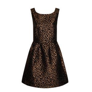 Black And Copper Mini Dress
