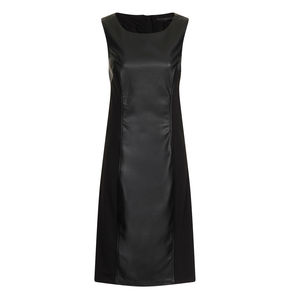Faux Leather Panelled Dress