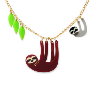 Sloth Family Necklace - necklaces & pendants