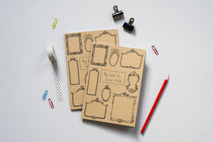 'My Book Of Secret Stuff' A5 Recycled Brown Notebook