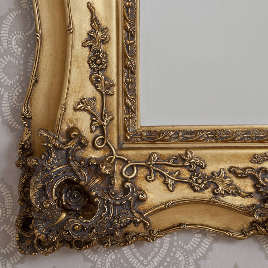 Vintage Ornate Gold Decorative Mirror By Decorative