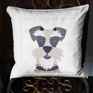 Schnauzer Personalised Dog Cushion Cover - pet-lover