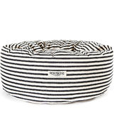 Rokabone Marine Ticking Donut Dog Bed - pets