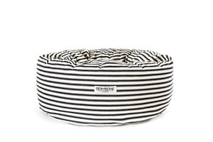 Rokabone Marine Ticking Donut Dog Bed - beds & sleeping