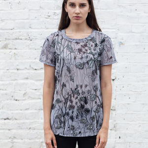 Hand Beaded Print Top - women's fashion