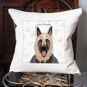 German Shepherd Personalised Dog Cushion Cover - dogs