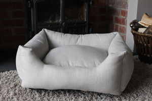 Plain Rectangle Bolster Dog Bed
