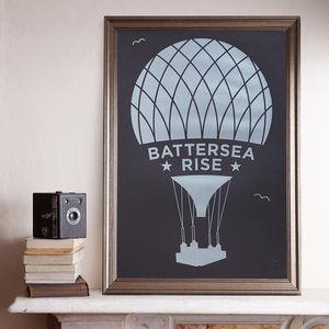 Battersea Rise A2 Black Screen Prints - contemporary art