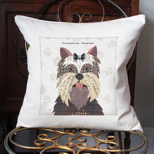 Yorkshire Terrier Personalised Dog Cushion - dogs