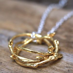 Russian Ring Twig Necklace
