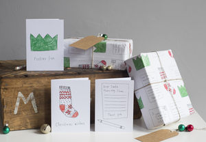 Pack Of Christmas Wrapping Paper - cards & wrap