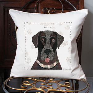 Labrador Print Canvas Cushion Cover - beds & sleeping