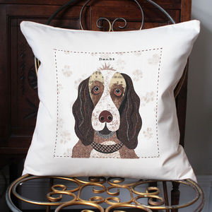 Springer Spaniel Personalised Dog Cushion Cover - floor cushions