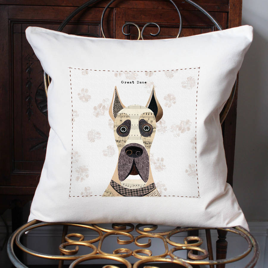 Great Dane Personalised Dog Cushion Cover