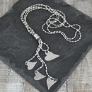 Multi Heart Metal Lariat Necklace