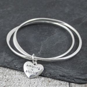 Everything Is Possible Silver Bangle