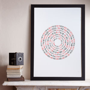 Postcode Lottery A2 Screenprints - shop by subject