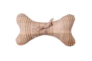 Sand Tweed Squeaky Toy Dog Bone - dogs