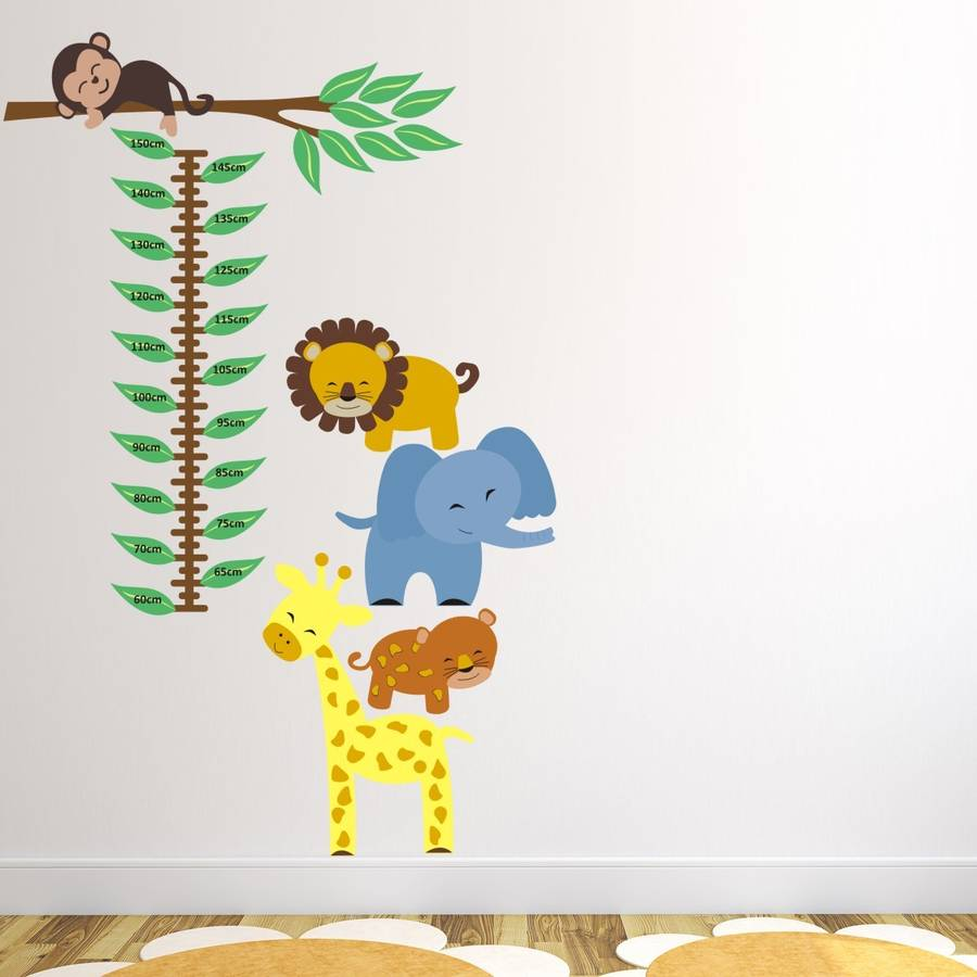 Jungle Height Chart Wall Sticker By Mirrorin Notonthehighstreet