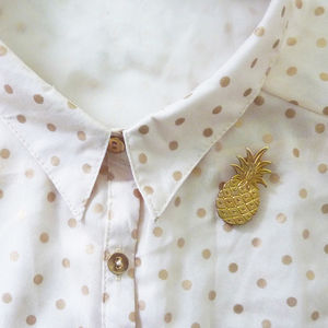 Pineapple Brooch - pins & brooches