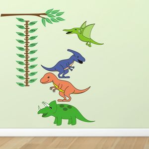 Dinosaur Height Chart Wall Sticker
