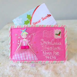 Letter To Santa Claus Pink Envelope