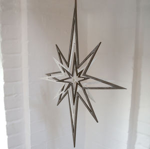 Hanging 3D Star - decorative accessories