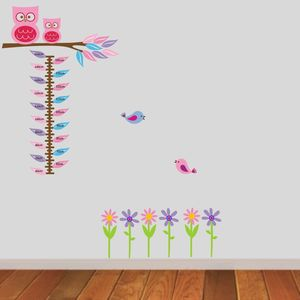 Owls On Branch Height Chart Wall Sticker - height charts