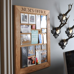 Mum's Office Cork/Notice/Chalk Board - storage & organisers